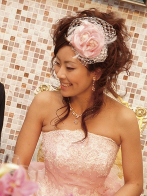 結婚式 髪型の花嫁 ...