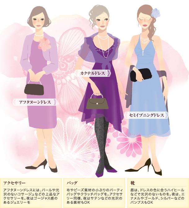 結婚式のTPO別、装いの基本