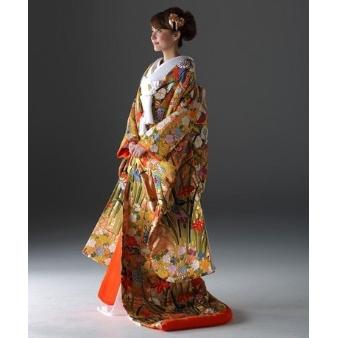 KYOKANE WEDDING(キョウカネ ウエディング):◆本格派の方に◆オレンジゴールド色打掛