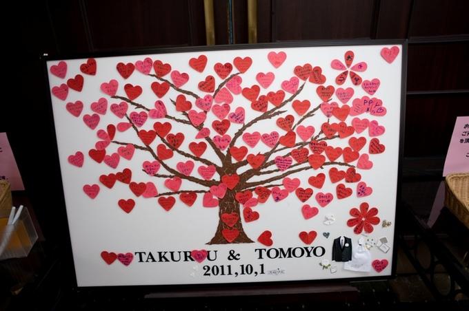新郎の姉夫婦からのサプライズプレゼントは「ウエディングツリー」
