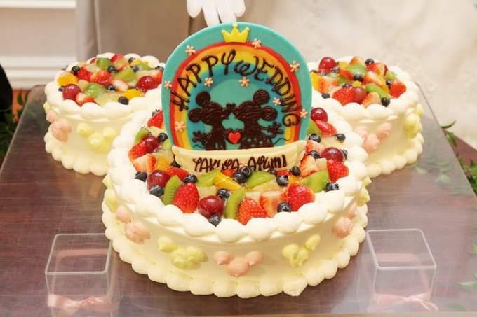 こちらはミッキー型のケーキの ...