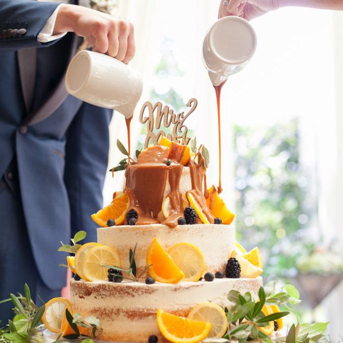 【ララシャンス】カラードリップケーキ~富山の結婚式場 キャナルサイドララシャンス~