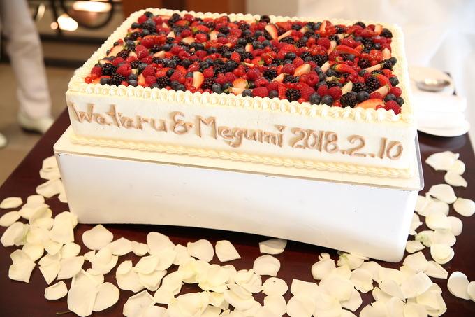 ウェディングケーキ♪ 【福島いわき市の結婚式場ララシャンスいわき】】