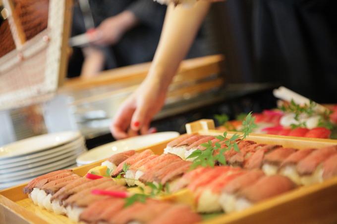 お寿司ブッフェ♪ 【福島県いわき市の結婚式場ララシャンスいわき】