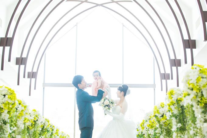 ハッピーなパパママ婚♪【高知の結婚式場ララシャンス迎賓館】
