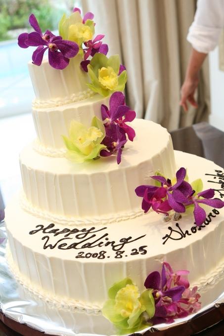 ケーキの模様について