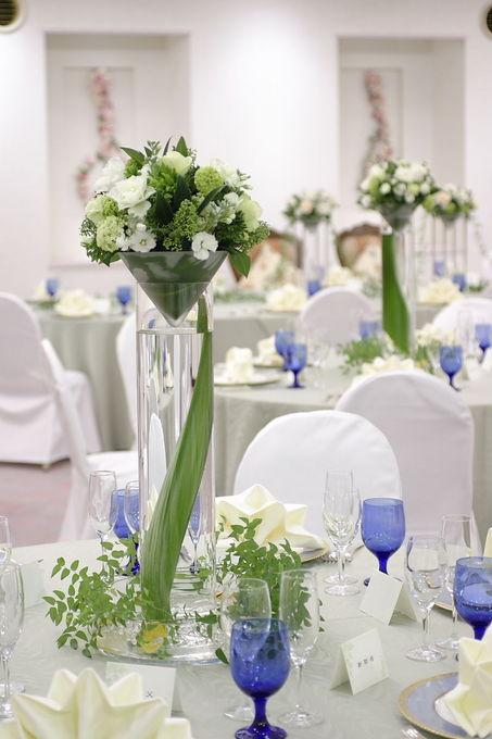 金沢国際ホテルのプランナーブログ テーブル装花 結婚式場