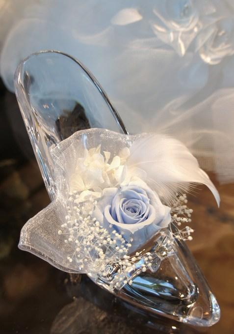 祝電のガラスの靴.JPG