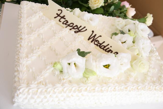 絞り模様が素敵なウエディングケーキ