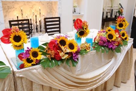 ご新婦様の想い溢れる夏の装花になりました。